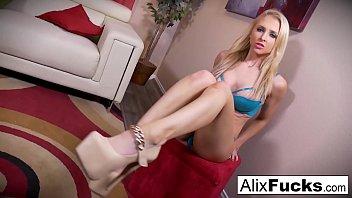 Christmas POV blow job from sexy Alix Lynx