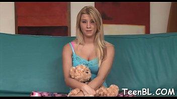 Kinky blonde diva behaves like whore