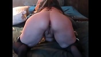 Trixxxcams.com - Chubby wife gets anal creampie on webcam