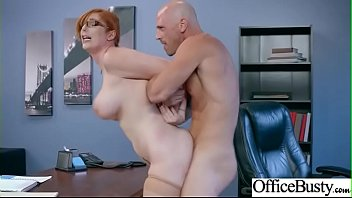Sex Scene In Office With Hot Busty Superb Girl (Lauren Phillips) video-17