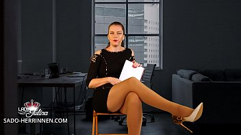 Application at Office Mistress Lady Julina as Nylon-, Shoe- & Foot Slave