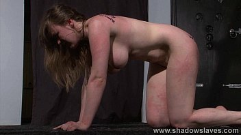 Painful engorged breast - Bizarre lesbian bdsm and slapping humiliation of submissive taylor heart in deme