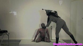 Rough femdom punishes black submissive - 69VClub.Com