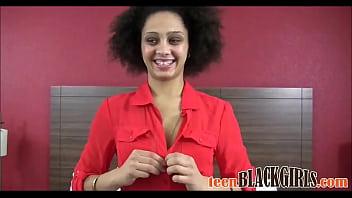Skinny Black Teen First Porn Casting