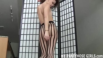 Come into the bedroom and let me tease you in pantyhose JOI