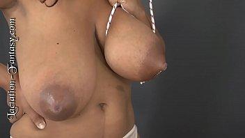 Niketa sucks on some huge tits! video