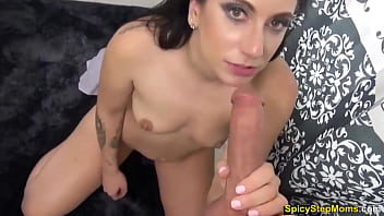 My stepmom said she can suck better than my usual sluts