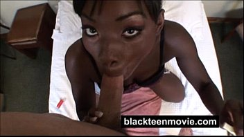 Ebony teen amateur fucks white dick in Black Pussy Video