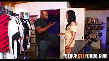 Mr 18 inch dick - Black step dad fucks white brunette daughter - blackstepdads.com
