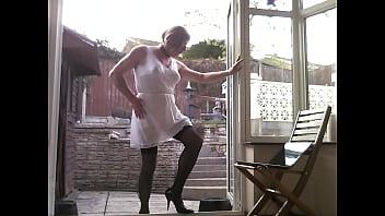 Transvestite lingerie porn Johanna clayton - outdoors in lingerie