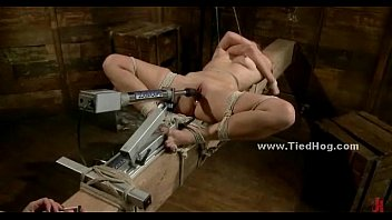 Bdsm torture art Cute babe tortured with ropes
