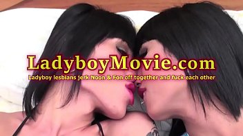 Thai shemale noon - Ladyboy lesbians noon and fon have fun together