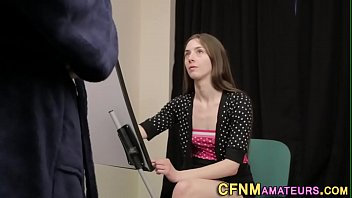 Nude and clothed - Clothed artist sucks cock