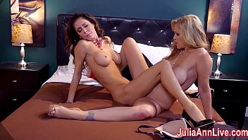 Lesbo making out Hot milf julia ann is a lusty lesbo