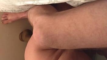 Wife fucks huge black dildo