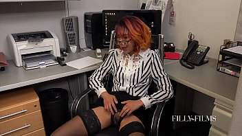 When The Office Is Empty These Two Girls Love To Make Each Other Cum