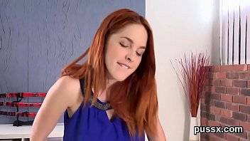 European nympho enjoys bizzare sex toy and crams huge vibro in slit