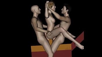 3d Animation Of Kinky MMF Threesome On Horse Machine