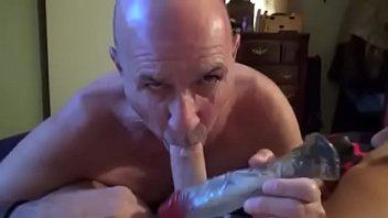 Watch me vib his cock and balls while i suck all of his precum