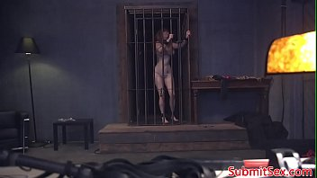 [couch blowjob] - Caged bdsm sub sucks doms cock before riding thumbnail