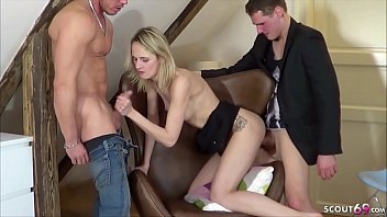 GERMAN PETITE TEEN JENNY IN AMATEUR MMF THREESOME AFTER PARTY