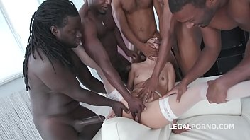 Isabella Nice 5on1 BBC with Anal, DP and messy cumshot