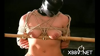 Female bondage nude Nude female gets both tits roughly stimulated in amateur torture