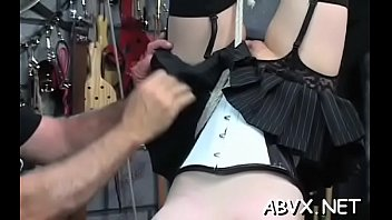 Bondage online free - In natures garb woman bizarre bondage at home with horny man