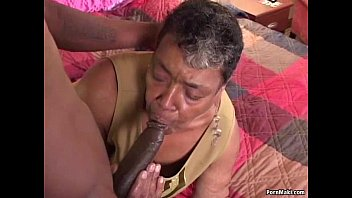 Fucking my black grandma Ebony grandma loves big black cock