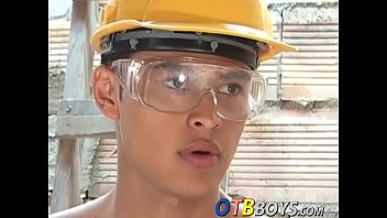 Twink cock juice - Hung latino twinks have anal sex in construction site