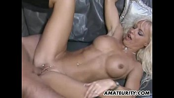 Busty amateur Milf sucking and fucking