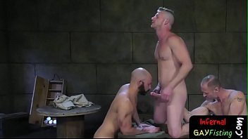 Bisex stud tugging cock