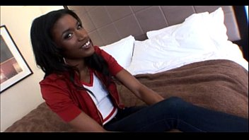 19yo Ebony teen does her 1st Porn in Amateur Video