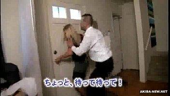 Bella moglie bionda matura costretta dall'uomo giapponese 1