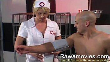 Blonde Nurse Swallows