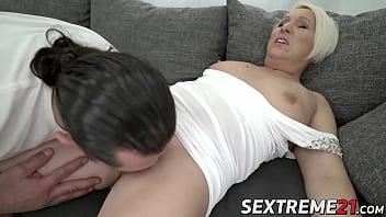 Voluptuous granny deserves big facial with cock riding act