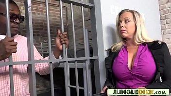 Lesbian jail warden inmate porn Horny warden amber lynn bach fucks a black inmate