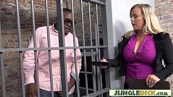 Horny Warden Amber Lynn Bach Fucks A Black Inmate preview image