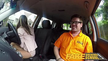 Free online driving porn Fake driving school hot and lonely blonde russian fucked to orgasm in car