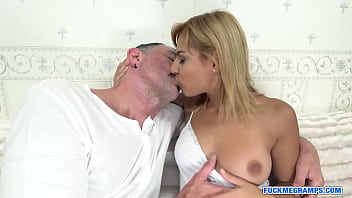 Blonde sweety ravished by an old fellow