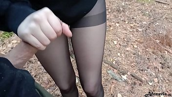 Horny Babe Caught In The Forest And Doggystyle Fucked