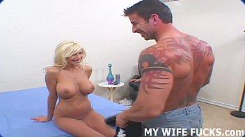 Watch you wife taking a huge pornstar dick
