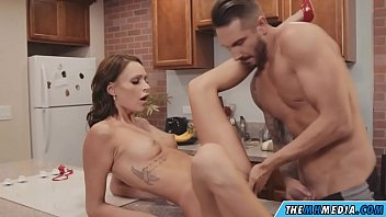 sensual sex in the kitchen