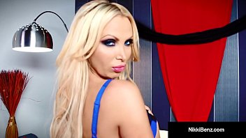 Removed her pantyhose Penthouse pet nikki benz finger bangs her hot steamy snatch