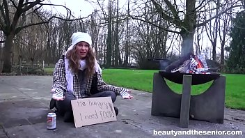 Fucking grandpa video Homeless girl begging for old cock