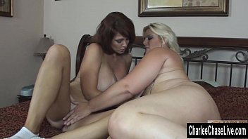 Blonde BBW Makes Big Tit Charlee Chase Cum!