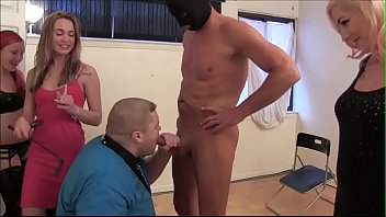 Femdome forced suck cock - Fat boy forced to suck