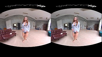 Russian teen teasing with her perfect body in exclusive UHD VR video