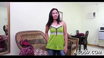 Curious teen girl enjoys getting slammed hard doggy style
