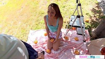 Small 19yo girl gives upside down 69 bj